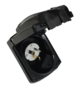 15 AMP 240V POWER INLET - Black Clipsal External Weatherproof